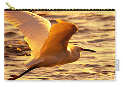 Golden Egret Bird Nature Fine Photography Yellow Orange Print  Carry-all Pouch