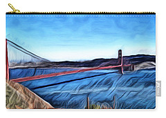 Windy Day At Golden Gate Bridge Carry-all Pouch
