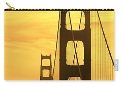 Carry-all Pouch featuring the photograph Golden Gate Bridge  by Clare Bevan