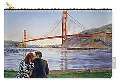 Golden Gate Bridge San Francisco - Two Love Birds Carry-all Pouch