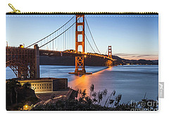 Carry-all Pouch featuring the photograph Golden Gate Night by Kate Brown
