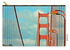 Carry-all Pouch featuring the photograph Golden Gate Walkway by Emmy Marie Vickers