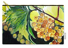 Carry-all Pouch featuring the painting Golden Grapes by Julie Brugh Riffey