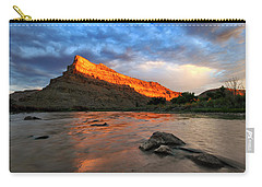 Carry-all Pouch featuring the photograph Golden Highlights by Ronda Kimbrow