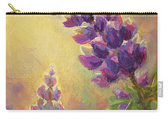 Golden Light 2 Wilsons Warbler And Lupine Carry-all Pouch by Karen Whitworth