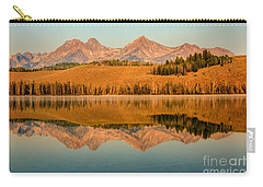 Golden Mountains  Reflection Carry-all Pouch by Robert Bales
