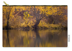 Carry-all Pouch featuring the photograph Golden Pond by Steven Milner