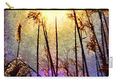 Carry-all Pouch featuring the photograph Golden Sun Rays On Beach Grass by Janine Riley