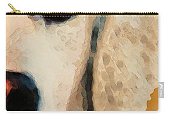 Carry-all Pouch featuring the painting Golden Retriever Half Face By Sharon Cummings by Sharon Cummings