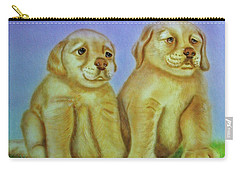 Carry-all Pouch featuring the painting Golden Retriever by Thomas J Herring