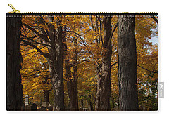 Carry-all Pouch featuring the photograph Golden Rows Of Maples Guide The Way by Jeff Folger