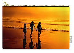 Carry-all Pouch featuring the photograph Golden Sands  by Micki Findlay