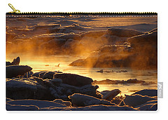 Golden Sea Smoke At Sunrise Carry-all Pouch by Dianne Cowen