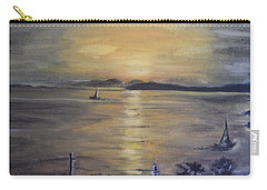 Golden Sea View Carry-all Pouch by Teresa White