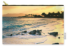 Golden Sunrise On Sapphire Beach Carry-all Pouch