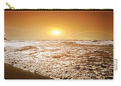 Carry-all Pouch featuring the photograph Golden Sunset by Aaron Berg