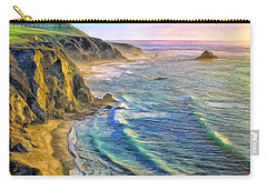 Golden Sunset At Big Sur Carry-all Pouch