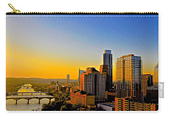 Golden Sunset In Austin Texas Carry-all Pouch