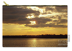 Carry-all Pouch featuring the photograph Golden Sunset by John Telfer