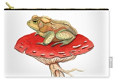 Golden Toad Carry-all Pouch by Katherine Miller