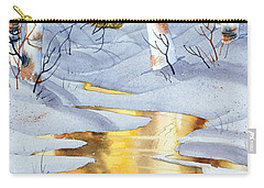 Carry-all Pouch featuring the painting Golden Winter by Teresa Ascone