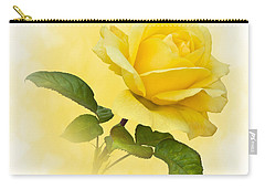 Golden Yellow Rose Carry-all Pouch by Jane McIlroy