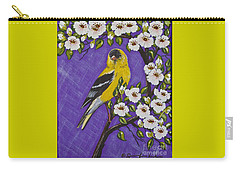 Goldfinch In Pear Blossoms Carry-all Pouch