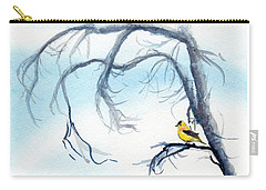 Goldfinch In Tree Carry-all Pouch