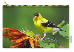 Goldfinch Pose Carry-all Pouch by Dianne Cowen