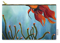 Carry-all Pouch featuring the painting Goldfish by Jolanta Anna Karolska
