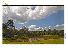 Carry-all Pouch featuring the photograph Golf Course Landscape by Alex Grichenko