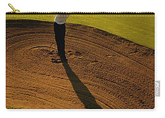 Golfer Taking A Swing From A Golf Bunker Carry-all Pouch