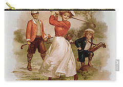 Golfing Carry-all Pouch by Ellen Hattie Clapsaddle