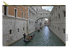 Gondolas Under Bridge Of Sighs Carry-all Pouch by Tony Murtagh