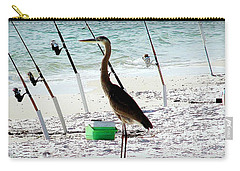 Carry-all Pouch featuring the photograph Gone Fishing by Debra Forand
