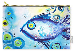 Good Luck Fish Abstract Carry-all Pouch