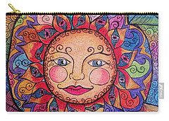 Carry-all Pouch featuring the drawing Good Morning Sunshine by Megan Walsh