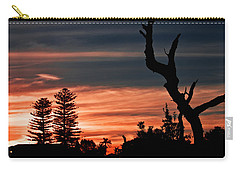 Carry-all Pouch featuring the photograph Good Night Trees by Miroslava Jurcik