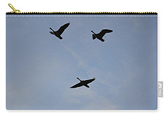 Carry-all Pouch featuring the photograph Goodbye Geese by Amy Gallagher