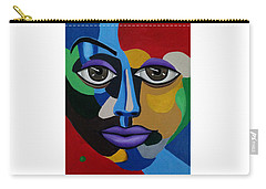 Google Me - Abstract Art Painting - Colorful Abstract Face - Ai P. Nilson Carry-all Pouch