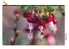 Carry-all Pouch featuring the photograph Gooseberry Flowers by Peggy Collins
