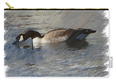 Goosey Lucy Painting Carry-all Pouch by Bobbee Rickard