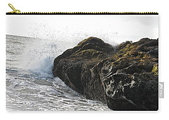Carry-all Pouch featuring the photograph Gorillas In The Mist  by Cliff Spohn