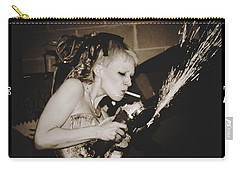 Carry-all Pouch featuring the photograph Got A Light by Alice Gipson