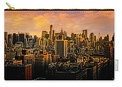 Carry-all Pouch featuring the photograph Gotham Sunset by Chris Lord