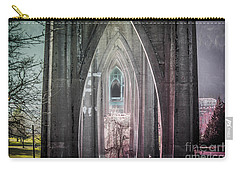 Gothic Arches Hands Folded In Prayer Carry-all Pouch