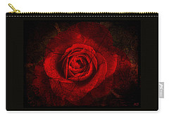 Carry-all Pouch featuring the digital art Gothic Red Rose by Absinthe Art By Michelle LeAnn Scott