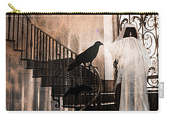 Gothic Grim Reaper With Ravens Crows - Spooky Haunting Surreal Gothic Art Carry-all Pouch