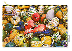Gourds And Pumpkins At The Farmers Market Carry-all Pouch by Peggy Collins