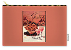 Gourmet Cover Featuring A Basket Of Potato Curls Carry-all Pouch by Henry Stahlhut
